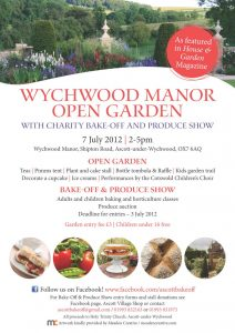 Wychwood Manor Open Garden 2012 Poster
