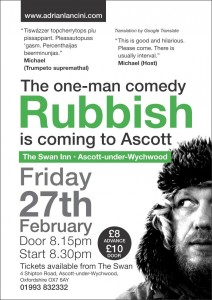 Comedy at the Swan - Rubbish