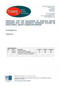 Outfall Scheme Design